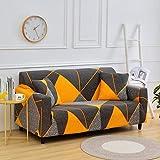 MKQB Sala de Estar Que Imprime la Cubierta elástica elástica del sofá, Cubierta Protectora del sofá de los Muebles modulares de la Esquina de la Sala de Estar NO.2 3seat-L- (190-230cm