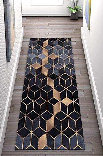 Korridor Teppich- Geometrische Flur Läufer Teppich, rutschfeste, Breite 80 cm / 100 cm / 140 cm erhältlich, Länge Anpassbare for Corridor (Size : 80×200cm)