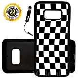 Custom Galaxy S8 Case (Checkered Flag Finish Line) Edge-to-Edge Rubber Black Cover Ultra Slim | Lightweight | by Innosub