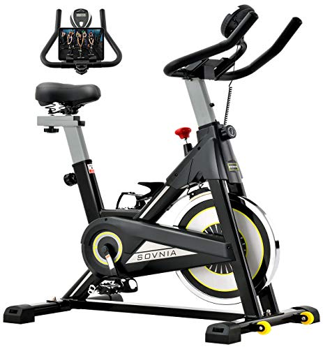 Sovnia Exercise Bike, Stationary Bikes, Fitness Bike with iPad Holder, LCD Monitor and...