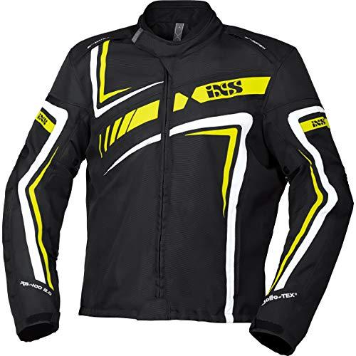 IXS Motorradjacke mit Protektoren Motorrad Jacke RS-400-ST 2.0 Sport Textiljacke schwarz/gelb/weiß M, Herren, Sportler, Ganzjährig, Polyester