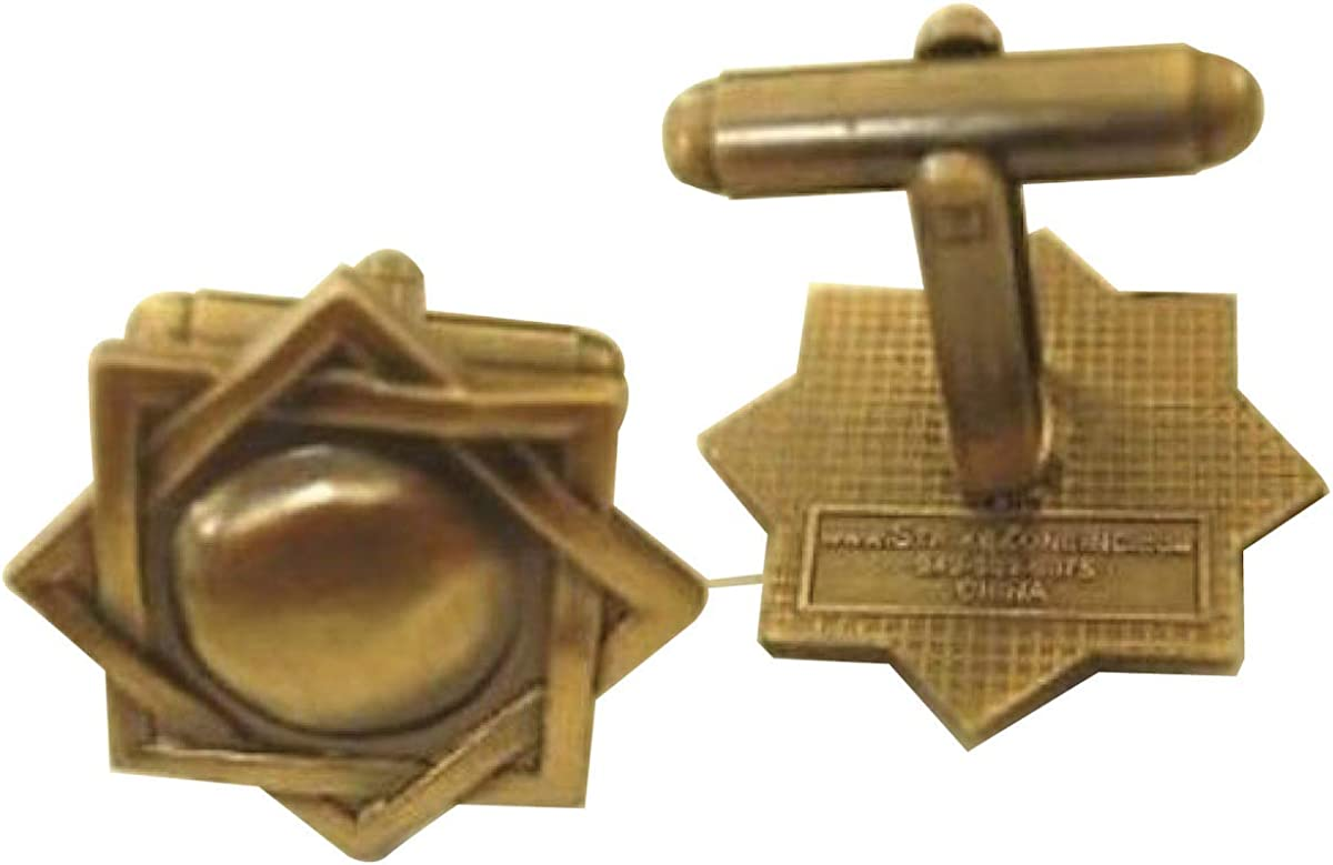 Strike Zone, Inc. MELCHIZEDEK Priesthood Symbol Antique Gold Cuff Links - LDS Mormon