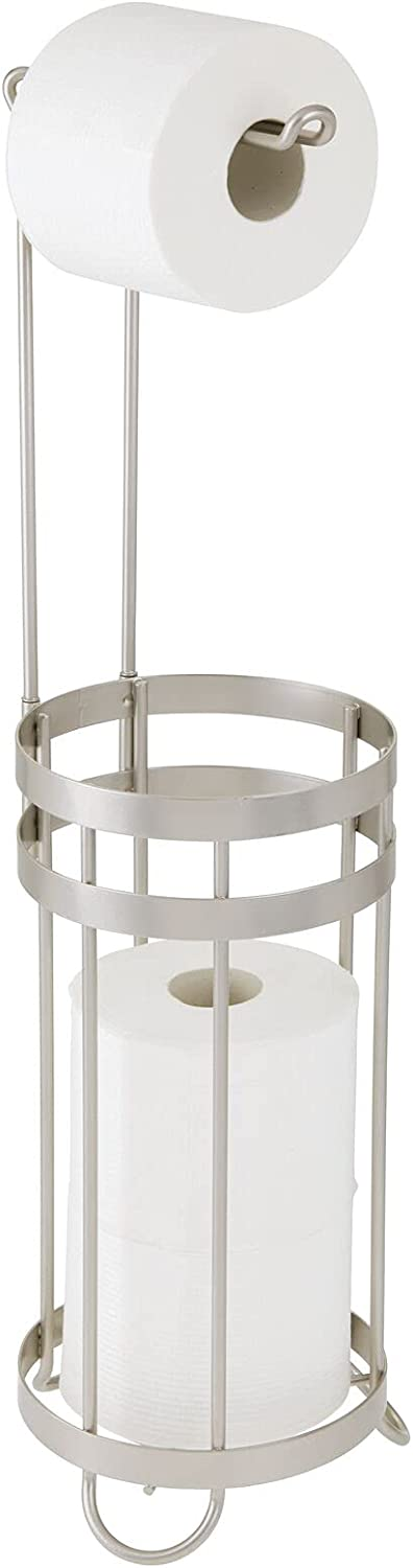 safety mDesign All items in the store Metal Free Standing Toilet Paper and Stand Holder Dispen