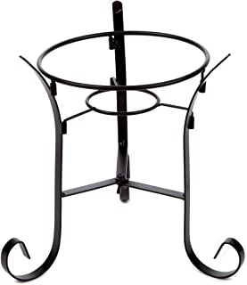 Lily's Home Metal Gazing Ball Stand for 10 or 12 inch Metal and Glass Garden Gazing Globes. Black. 9-inch Tall