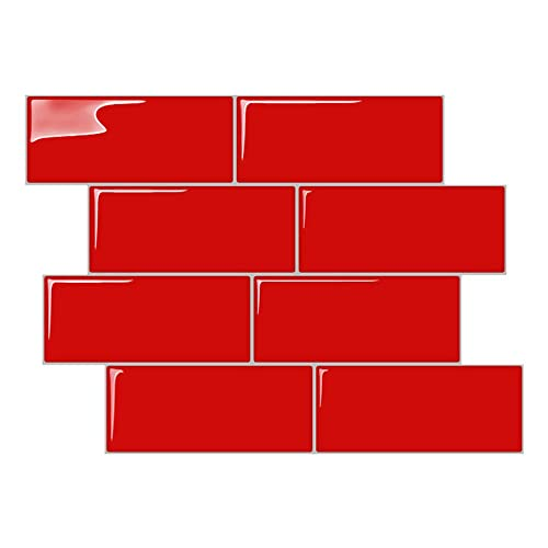 Tile for Backsplash Kitchen with Red: Amazon.com