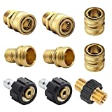 Xiny Tool Pressure Washer Adapter Set, Quick Disconnect Kit with M22 Metric Male Thread Quick Connector, M22 Swivel to 3/8'' Quick Connect, 3/4' to Quick Release, 9 Pack