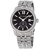 Wittnauer WN3031 Crystal Pave Bezel Stainless Steel Black Dial Men's Watch