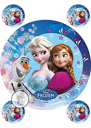 Frozen Die Eiskönigin, Essbares Foto für Torten, Tortenbild, Tortenaufleger Ø 20cm - Super Qualität, 0104w