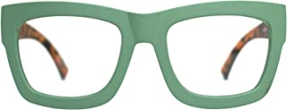 Vintage Inspired Geek Oversized Square Thick Horn Rimmed Eyeglasses Clear Lens