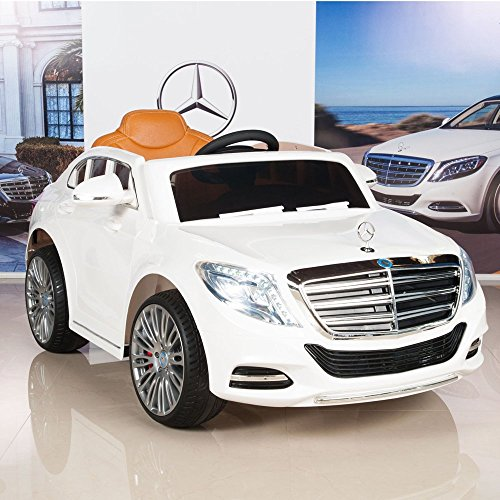 BIG TOYS DIRECT Mercedes-Benz S600 12V Kids Ride On Battery Powered Wheels Car RC Remote White