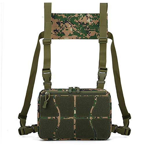 A-hyt Cómodo y cómodo Oxford Tactical Bag Chaleco bolsa de pecho senderismo caza chaleco mochila fácil senderismo (color : camuflaje de la selva)