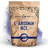 L Arginin Pulver HCL - 500g Veganes Arginin Pulver 5g pro Tagesdosis - L-Arginin HCL Ist Die Reinste Quelle Mit Höchster Bioverfügbarkeit Und Optimalen PH - Wert - L Arginin Abgefüllt In Deutschland -