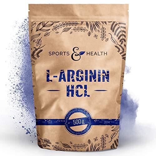 L Arginin Pulver HCL - 500g Veganes Arginin Pulver 5g pro Tagesdosis - L-Arginin HCL Ist Die Reinste Quelle Mit Höchster Bioverfügbarkeit Und Optimalen PH - Wert - L Arginin Abgefüllt In Deutschland