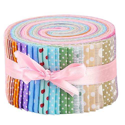 Namner - 40 piezas de tela Jelly Rolll Jelly Rolls para edredones de tela de colcha envueltas de algodón Jelly Rolls, tejido para costura, artesanías de colcha