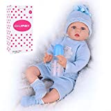 CHAREX Reborn Baby Doll Boy, 22 Inches Realistic Baby Doll, Lifelike Silicone Weighted Reborn Baby So Truly Real Reborn Baby for Age 3+