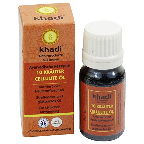 KHADI Huile ayurvédique anti-cellulite aux 10 plantes - 10ml
