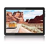 Tablet 10 inch Android 8.1 Go, 3G Unlocked Phablet with Dual SIM Card Slots, 16GB Storage, WiFi, Bluetooth, GPS, Quad-Core, HD Touchscreen - Black