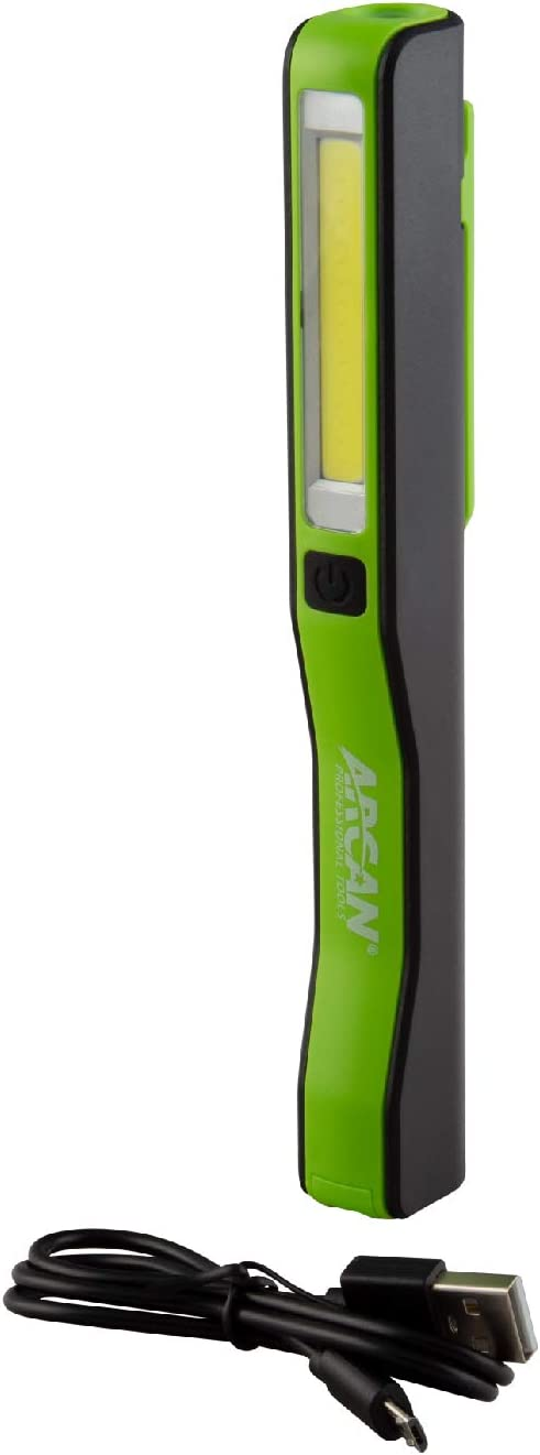 Arcan 200-Lumens Rechargeable Pen Flashlight USB ALPE favorite Super special price with Port