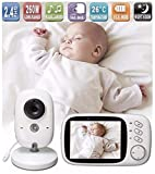 Lullaby Bay Video Baby Monitor with Camera. Anti-Hack Encryption. Wireless Digital 3.2 inch