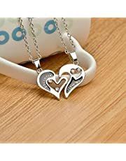 I Love You Crystal Heart Pendant Necklace Couple Necklace For Lovers Gift