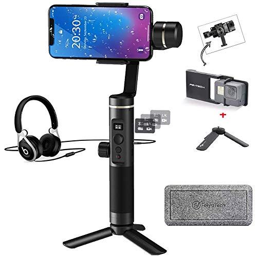 Feiyutech SPG 2assi palmare Gimbal stabilizzatore fornisce interfaccia audio expansion, schizzi, 300g carico utile per smartphone iPhone XS x 87Galaxy S9+ GoPro 65, include adattatore