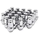 MIKKUPPA M14x2.0 Lug Nuts - for Ford F150 Expedition Lincoln Navigator Factory Wheels - 24pcs 13/16 Hex 2 Inch Chrome OEM Factory Style Large Acorn Seat Lug Nuts