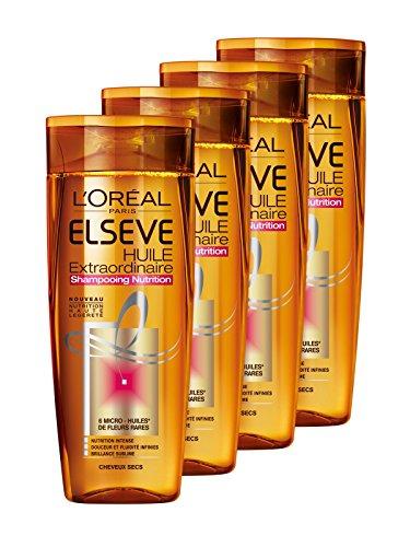 professionnel comparateur L'Oréal Paris Elsève Shampooing de soin aux huiles spéciales pour cheveux secs 250 ml-4 pcs. choix