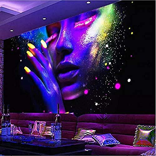 Moderne fluoreszierende Plakatleiste Ktv dekorative Malerei Wandbild Tapete Wanddekoration fototapete 3d Tapete effekt Vlies wandbild Schlafzimmer-250cm×170cm