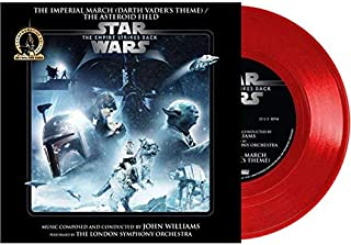 """Star Wars - The Imperial March (Darth Vader's Theme) / The Asteroid Field - Exclusive Limited Edition Red Colored 7"""" Vinyl LP"""