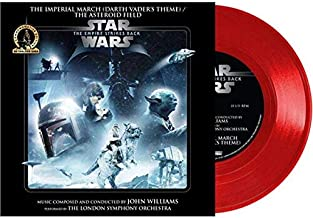 "Star Wars - The Imperial March (Darth Vader's Theme) / The Asteroid Field - Exclusive Limited Edition Red Colored 7"" Vinyl LP"