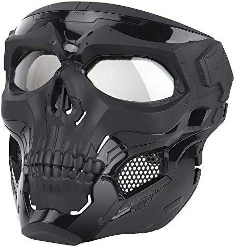 Anyoupin Airsoft Mask Full Face Masks Skull Skeleton with Goggles Impact Resistant Army Fans product image