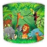 Premier Lampshades Ceiling Zoo Jungle Animals Childrens Lamp Shades - 12 Inch