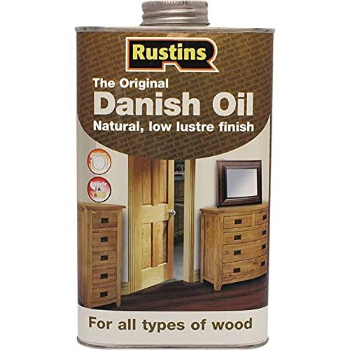 Rustins (DANO500) Dänisches Öl - Schutz des Innen - und Außen Holzes - Farblos - 500 ml