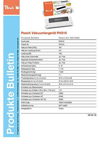 Peach Vakuumiergerät PH 310 - 6