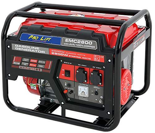 Pro-Lift-Gereedschappen stroomgenerator 2800W 4-takt benzinemotor generator 230V noodstroomgragaat 2,8 kW handstarter stroomgenerator