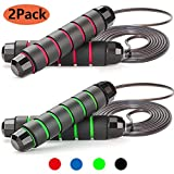 ZODAE Jump Rope, Tangle-Free Ball Bearings Speed Skipping Rope Cable, Jumping Ropes with Memory Foam...
