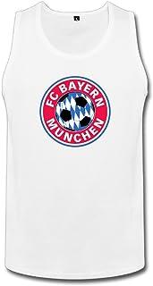 YOKOあさの 男性 面白い バイエルン ミュンヘン ランニング シャツ カジュアル White