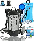 FREEMOVE Hydration Pack Backpack - Water Stays Cool 5 Hours with 2L Hydration Bladder and Cooler Bag | Fully Adjustable, Multiple Pockets | 10L Overall Storage Capacity | Hiking, Running, Cycling, MTB
