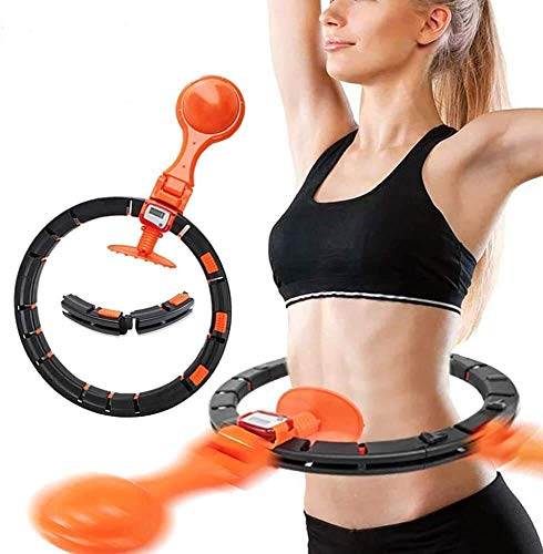 Mixen Smart Hula Hoop Fitness Weight Loss Weight Loss Belly Fat Burning Detachable Hula Hoop Suitable for Beginner Trainer Exercise Weight Loss