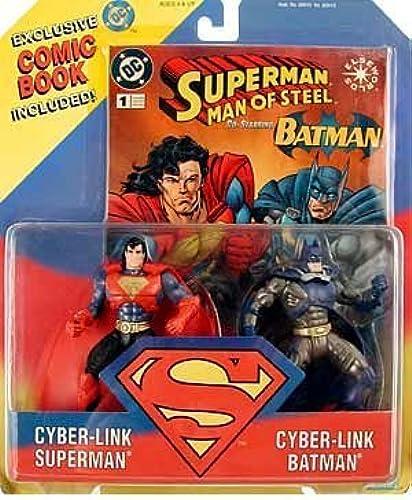 Superman - Man of Steel Cyber-Link Superman & Cyber-Link Batman Action Figure by Kenner