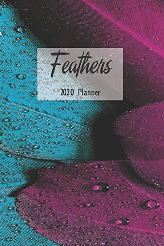 Feathers 2020 Planner: Weekly Monthly Agenda Calendar Organizer and Engagement Book