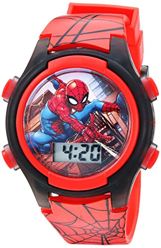 Marvel Boys' Quartz Watch with Plastic Strap, red, 16 (Model: SPD3515A)