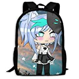 Hengtaichang Gacha Life Games Unisex Travel Backpacks, Outdoor Backpack for Boys and Girl