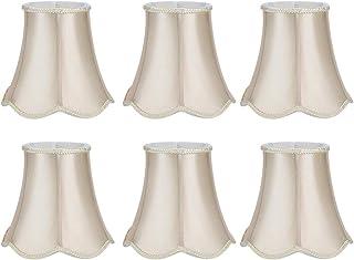 Pantalla de lámpara pequeña, 6 piezas Pantalla de tela de estilo europeo Cubierta de lámpara de escritorio Pantalla de lámpara de cristal Pantalla de lámpara moderna para lámpara de mesa y luz de piso