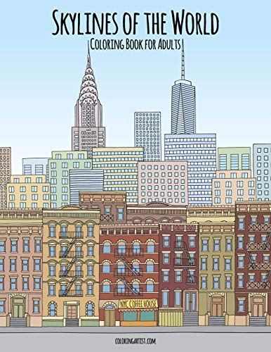 Skylines of the World Coloring Book for Adults