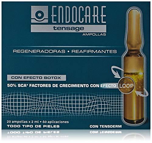 Endocare Tensage Ampollas - Antiarrugas, Antiflacidez, Regeneradoras, Efecto Tensor Inmediato, Con Ácido Hialurónico, Para Todo Tipo De Pieles, 20 Unidades 40 ml