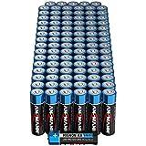 ANSMANN Batterien AA Alkaline Größe LR6 - AA Batterie für Lichterkette (96 Stück Vorratspack)