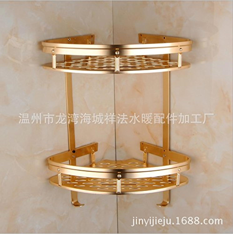 Bathroom racks triangular basket of local gold antique copper bathroom Bathroom sundries shelf double Local golden triangle