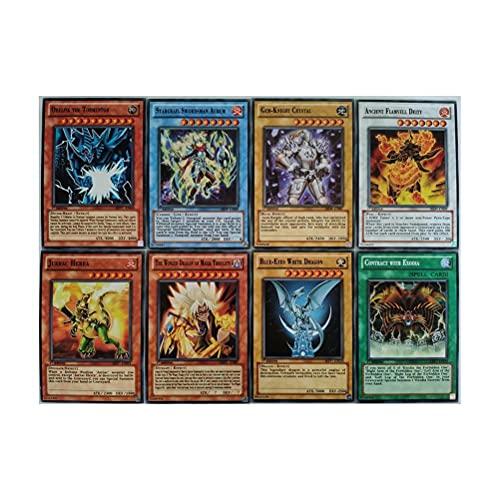 POPQ Yu-Gi-Oh Carta Inglese 54 Pz (40 Carte Normali + 14 Carte Flash) Collezione Leggendaria con Scatole di Latta