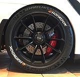 Tire Style 4 x Reifenaufkleber - Hankook mit Logo- Farbe: weiß Reifenschrift (19 Zoll)